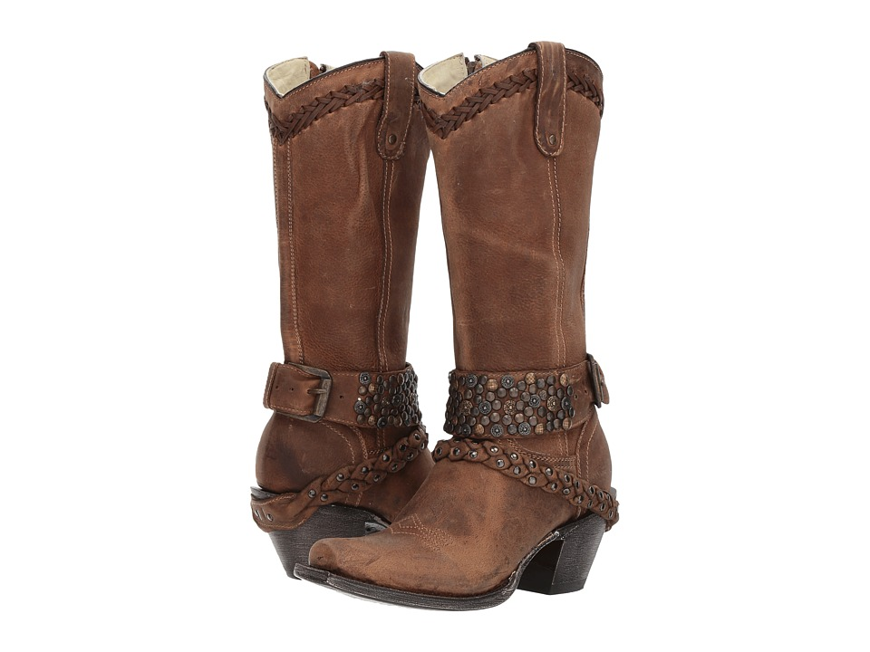 Corral Boots - G1398 (Brown) Cowboy Boots