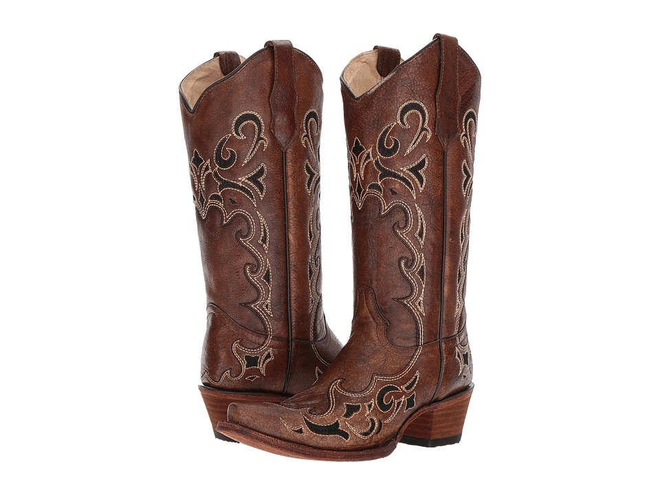 Corral Boots - L5247 (Black/Brown) Cowboy Boots