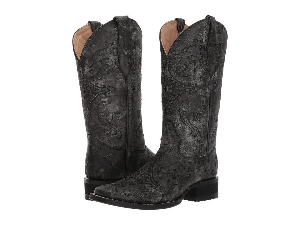 Corral Boots - L5252 (Black/Grey) Cowboy Boots
