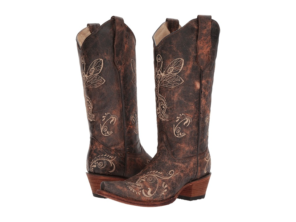 Corral Boots L5001 (Brown/Bone) Cowboy Boots