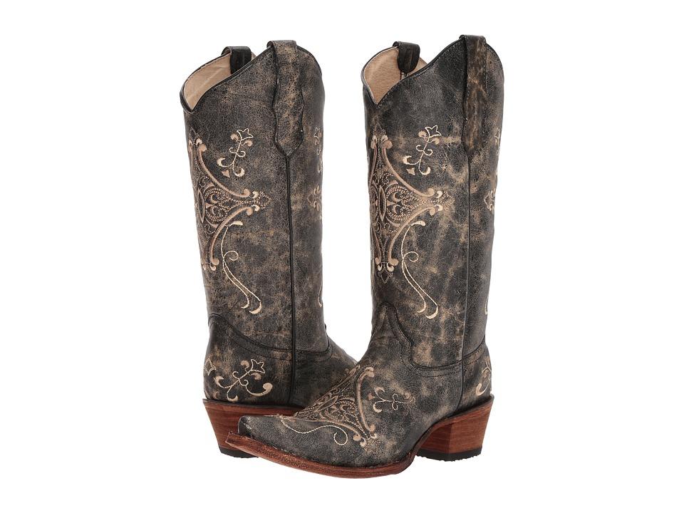 Corral Boots - L5048 (Black/Bone) Cowboy Boots