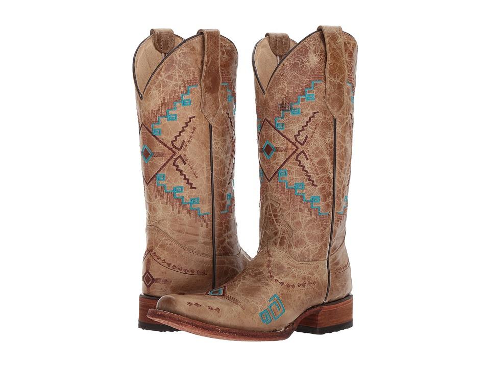 Corral Boots - L5297 (Chocolate/Cognac) Cowboy Boots