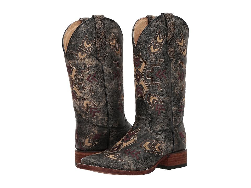 Corral Boots L5253 (Black/Bone) Cowboy Boots
