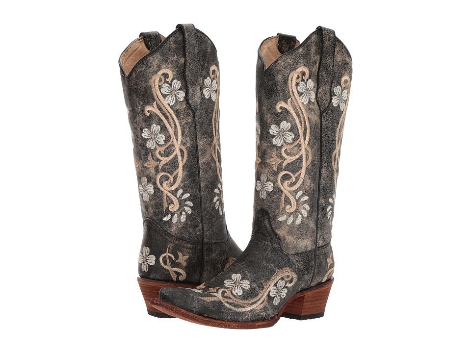 Corral Boots - L5175 (Black/Multi) Cowboy Boots