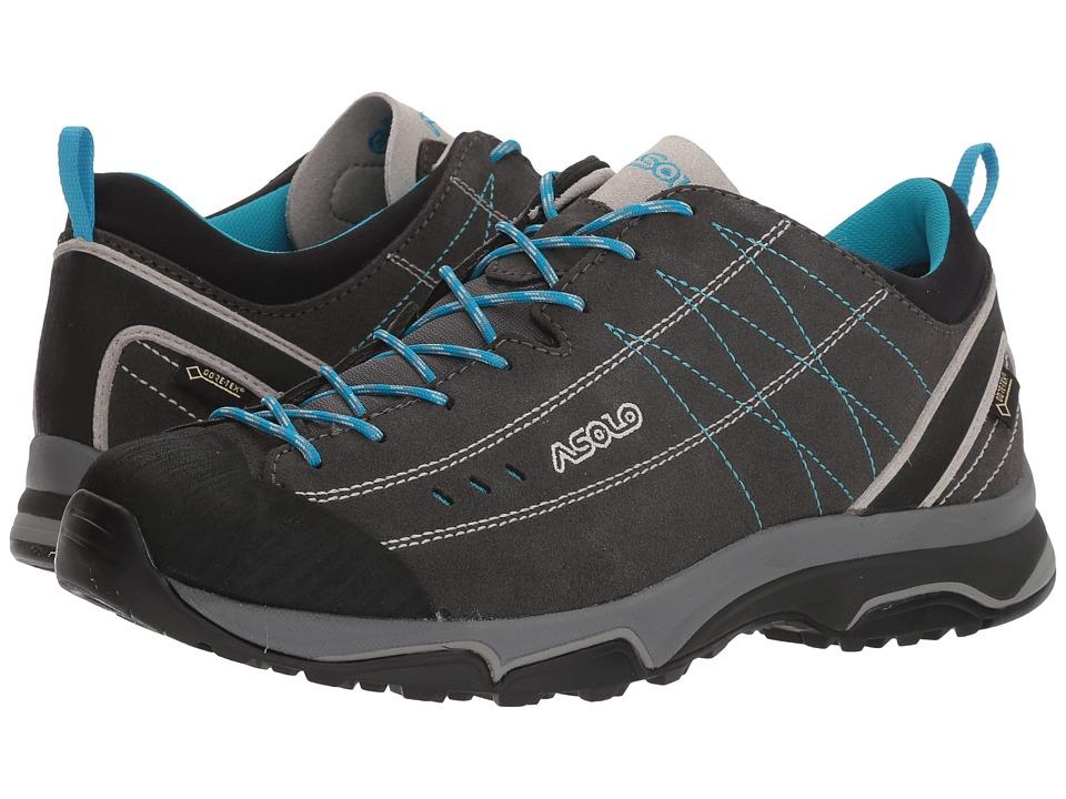 Asolo Nucleon GV (Graphite/Silver/Cyan Blue) Women's Shoes