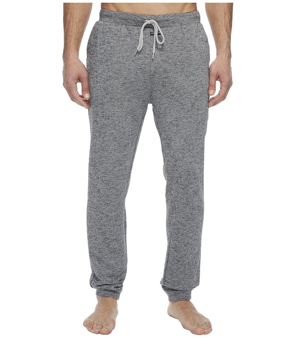 Kenneth Cole Reaction - Jog Pants Brushed Jersey (Dark Grey Heather) Mens Pajama