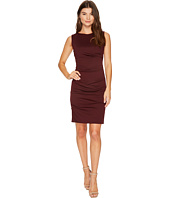 Nicole Miller - Ponte Sleeveless Tucked Dress