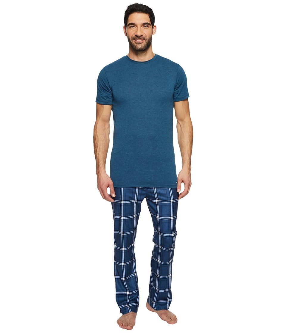 Kenneth Cole Reaction - Poly Sleep Set (Majolica Heather) Mens Pajama Sets