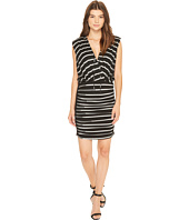 Nicole Miller - Striped Jersey Blouson Dress