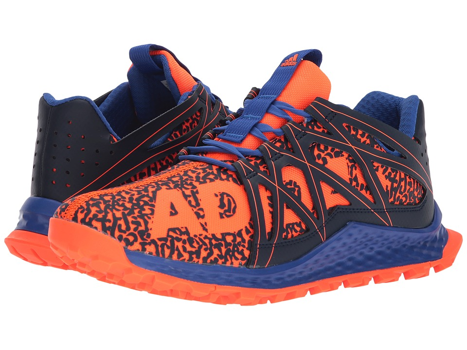 adidas Kids - Vigor Bounce (Big Kid) (Solar Orange/Navy/Hi-Res Blue) Boys Shoes