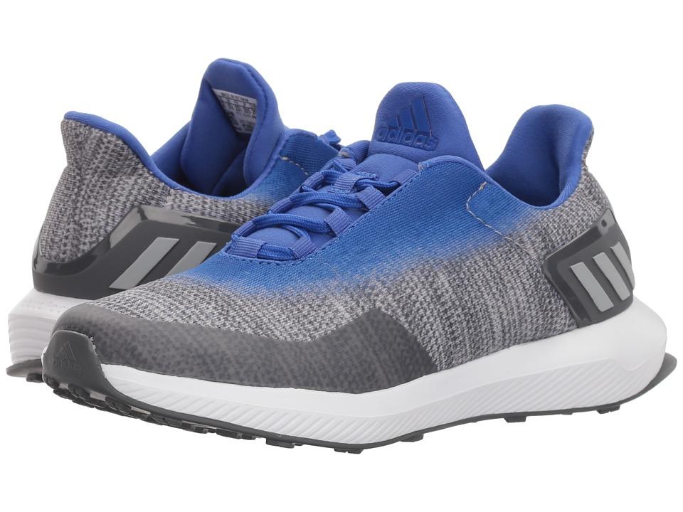 adidas Kids RapidaRun Uncaged (Little Kid/Big Kid) (Grey/Hi-Res Blue) Boys Shoes