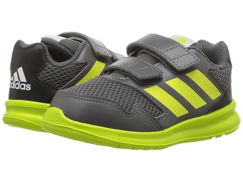 adidas Kids AltaRun (Toddler) (Grey/Yellow/Black) Boys Shoes