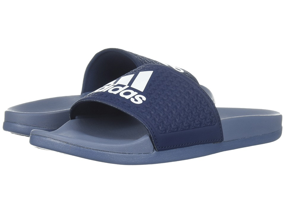 adidas Kids Adilette Comfort K (Toddler/Little Kid/Big Kid) (Navy/White/Gold) Boys Shoes
