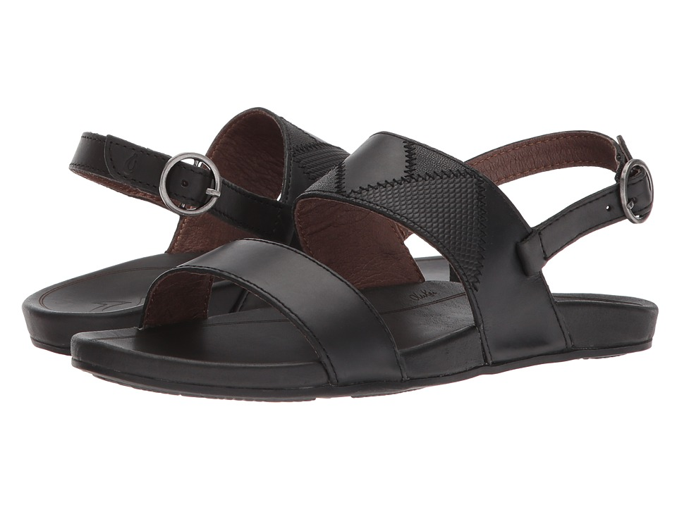 OluKai - Hi'ona Pa'i (Black/Black) Women's Sandals