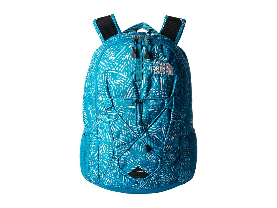 The North Face - Womens Jester (Algiers Blue Leaf Print/Algiers Blue) Backpack Bags