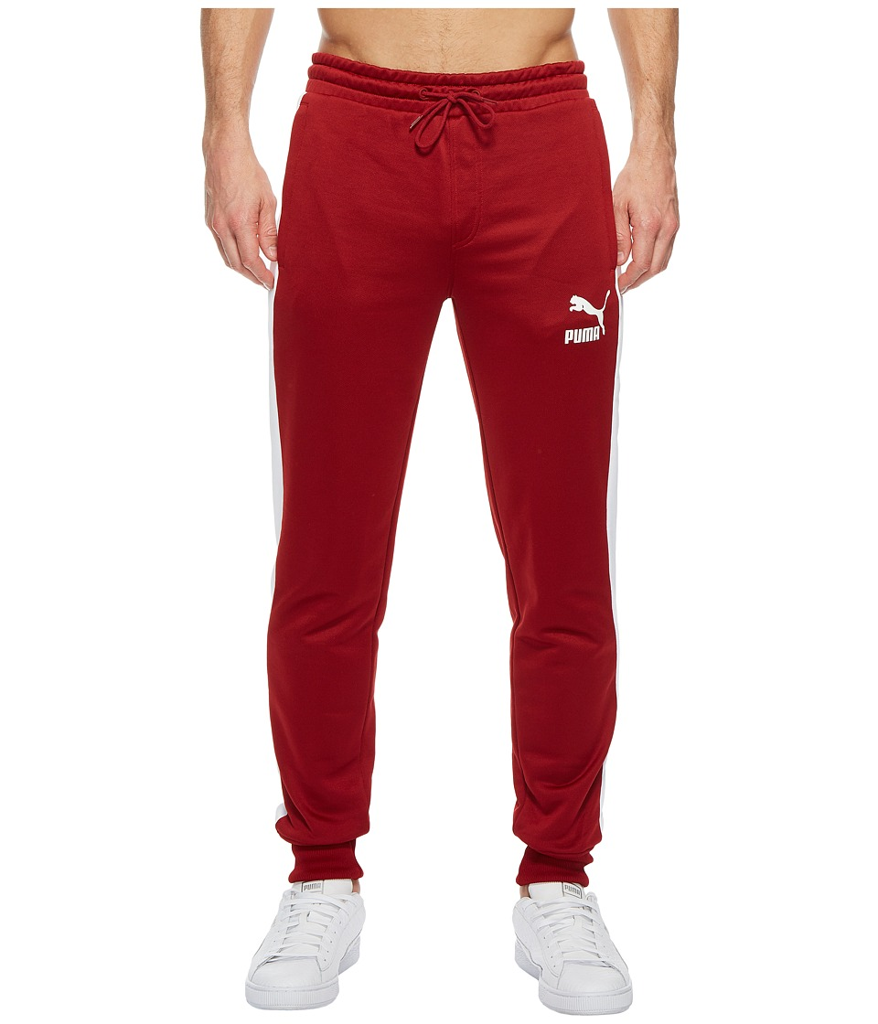 PUMA - Archive T7 Track Pants (Red Dahlia) Mens Workout
