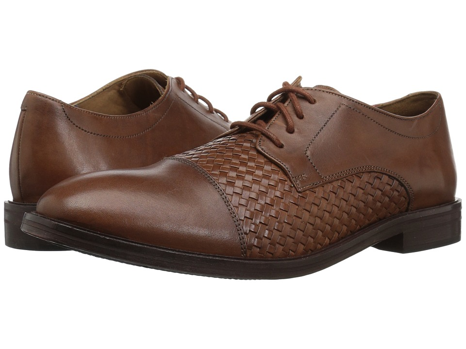Bostonian - Mckewen Cap (Dark Tan Weave) Mens Lace Up Cap Toe Shoes
