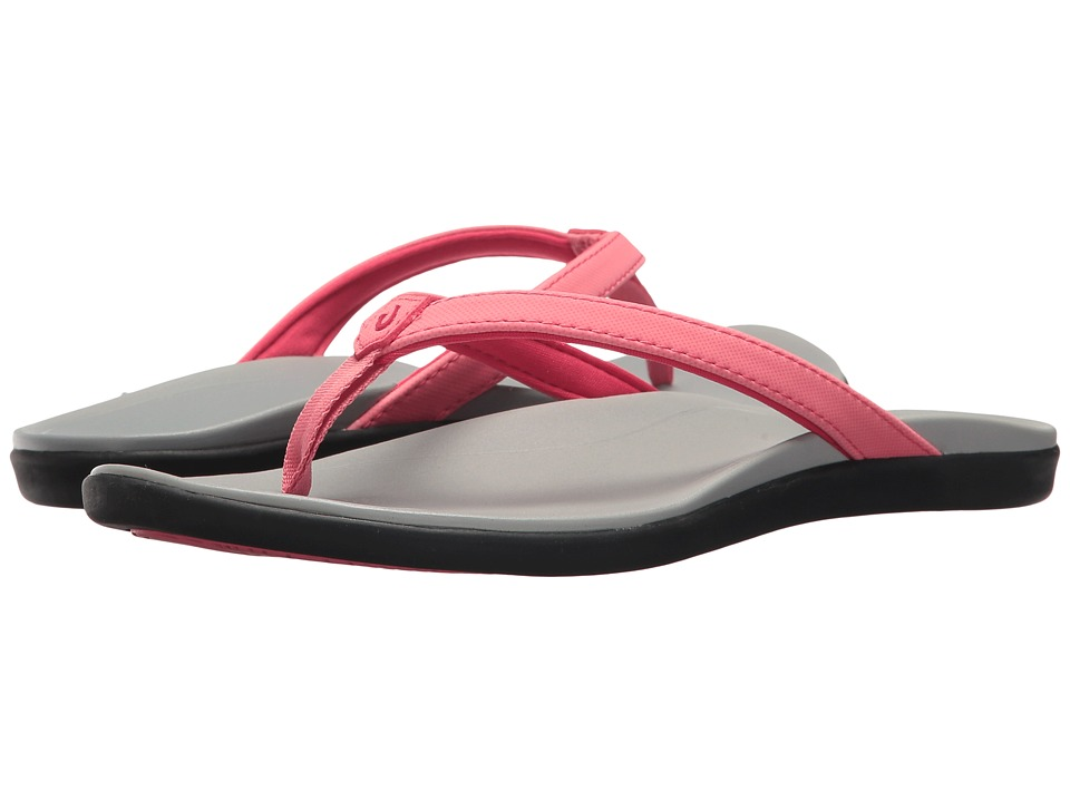 OluKai Ho'opio (Guava Jelly/Pale Grey) Sandals