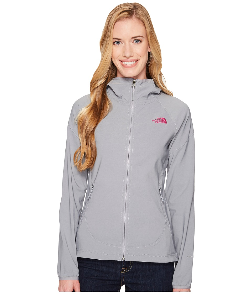 The North Face - Nimble Hoodie (Mid Grey/Violet Pink) Womens Coat