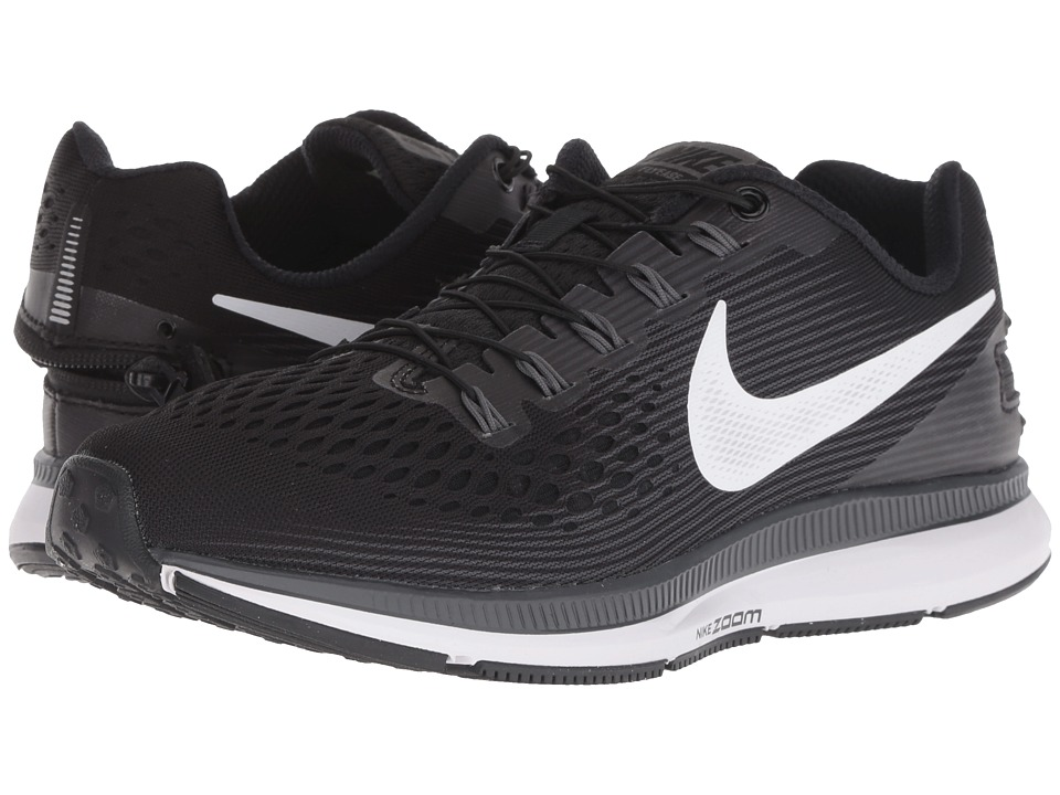 Nike Air Zoom Pegasus 34 FlyEase (Black/White/Dark Grey/Anthracite) Women's Running Shoes