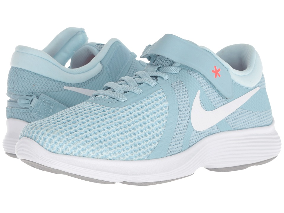 Nike Revolution 4 FlyEase (Ocean Bliss/White/Glacier Blue/Solar Red) Women's Running Shoes