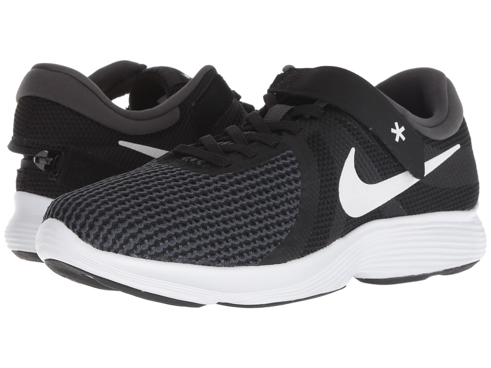 Nike Revolution 4 FlyEase (Black/White/Anthracite/Solar Red) Women's Running Shoes