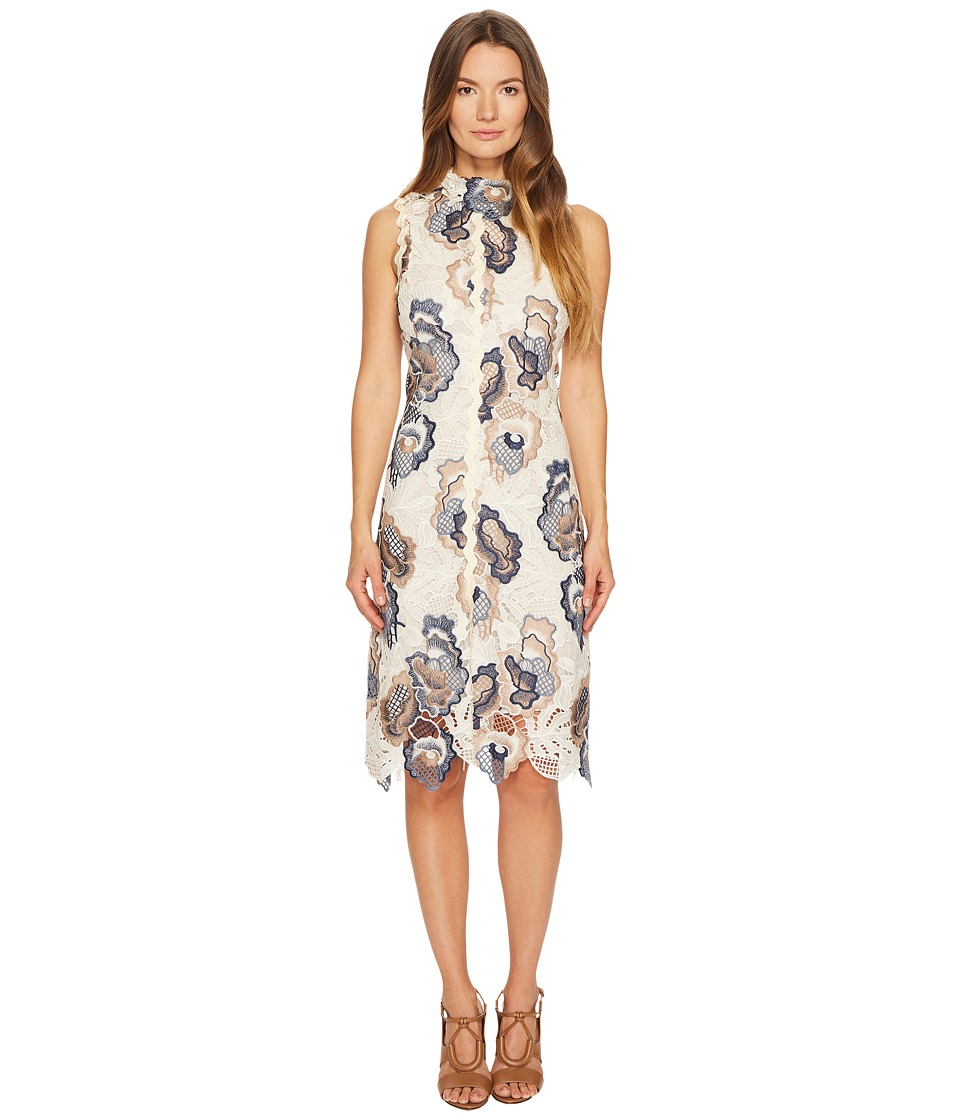 See by Chloe Floral Lace Dress (White/Blue) Women