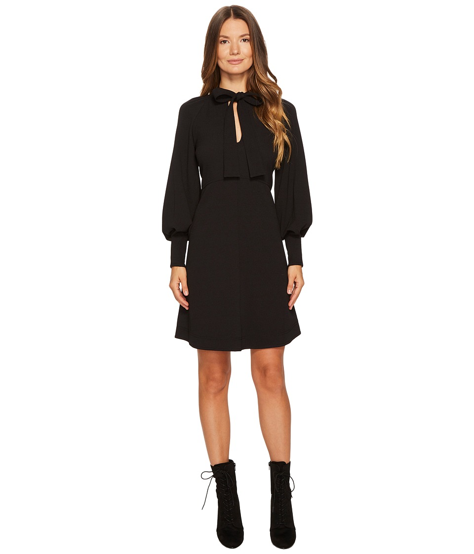 See by Chloe Crepe Dress with Neck Tie (Black) Women