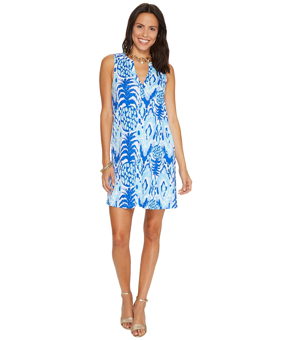 Lilly Pulitzer Dev Dress (Serene Blue Tropic Call Me) Women