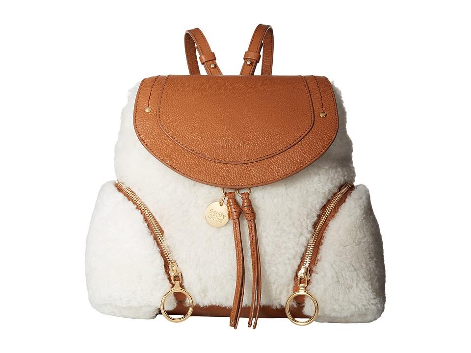 See by Chloe Olga Large Shearling (Caramelo) Handbags