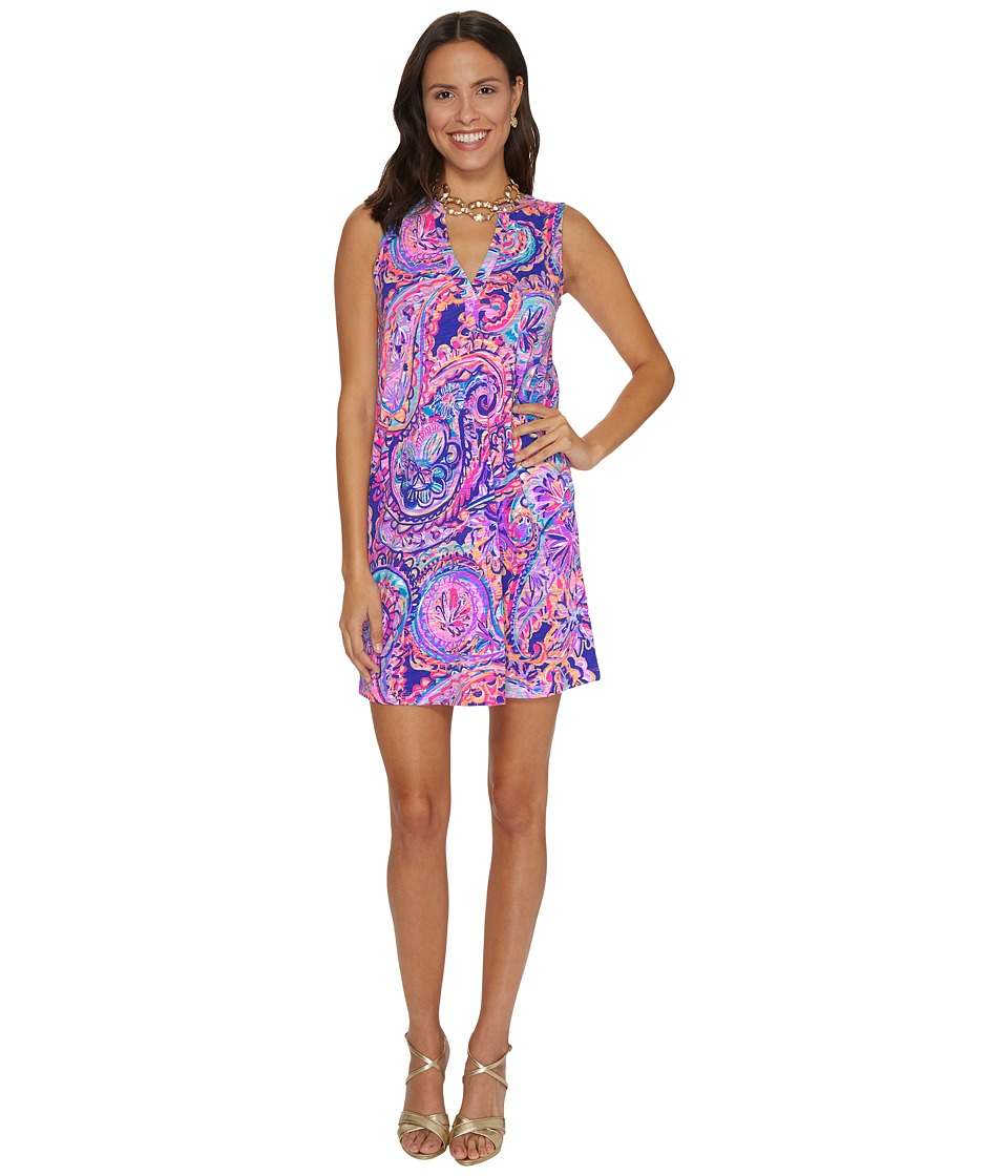 Lilly Pulitzer Dev Dress (Blue Current Drop Me A Lime) Women