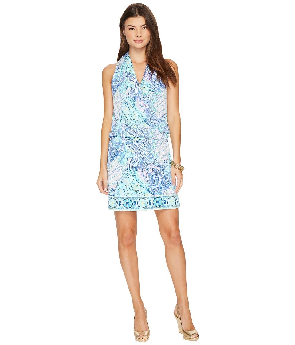 Lilly Pulitzer Felizia Dress (Blue Current Fantasea Enginered) Women