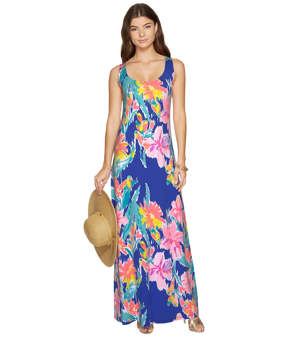 Lilly Pulitzer Natalia Maxi Dress (Blue Current Lil Olive) Women