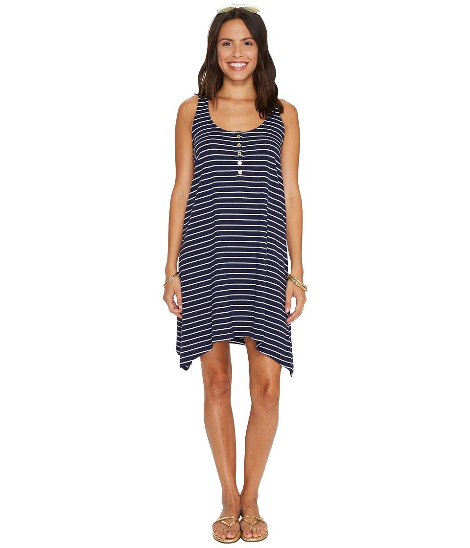 Lilly Pulitzer Jennalyn Dress (True Navy Palm Stripe) Women