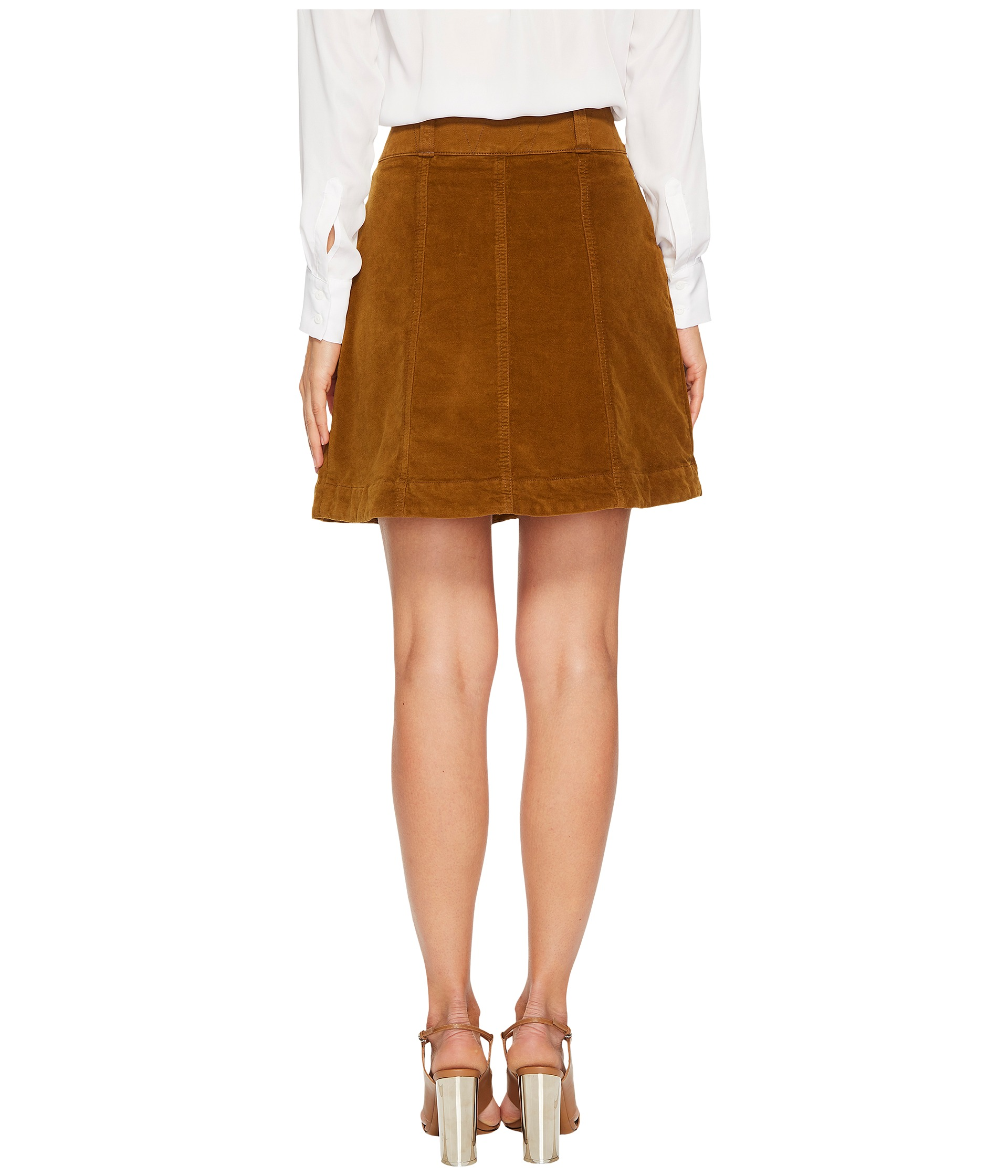 see by velvet a line skirt at zappos