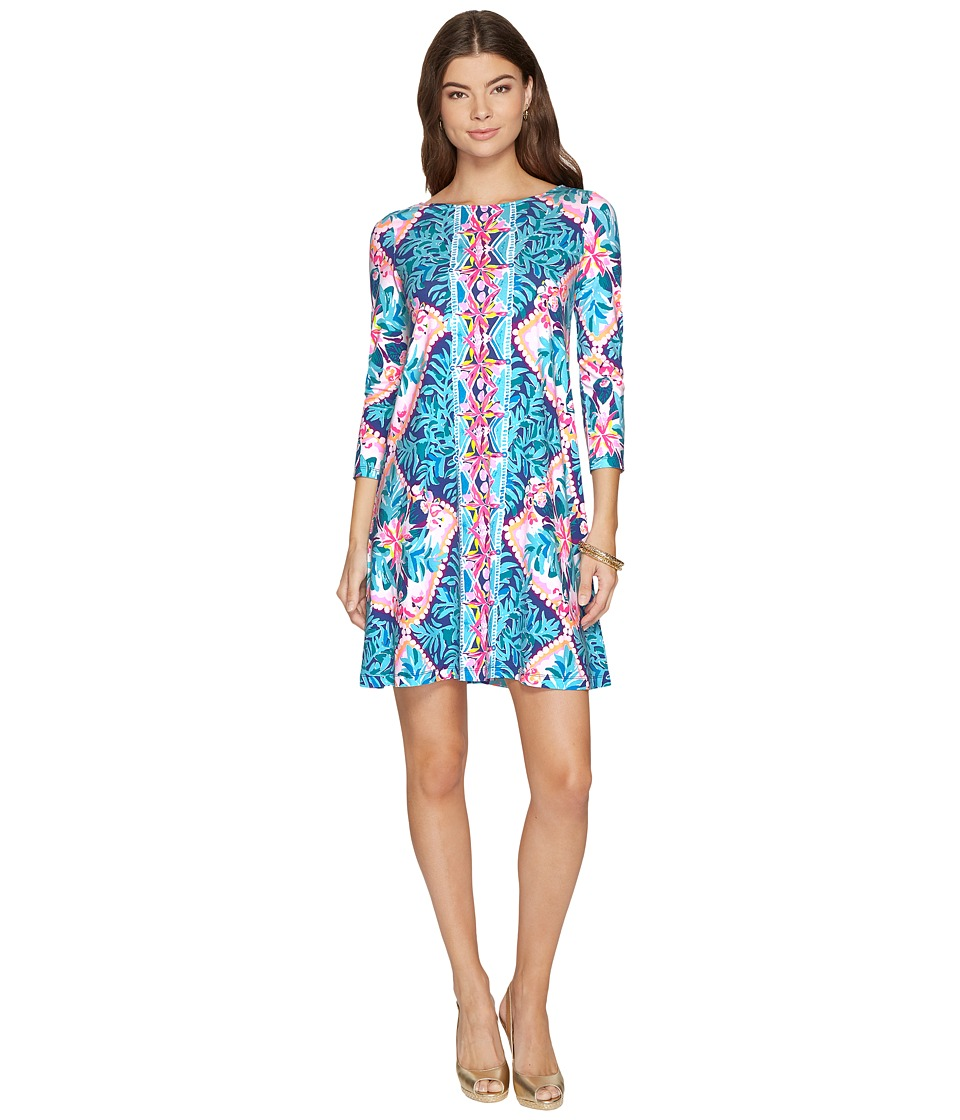 Lilly Pulitzer Ophelia Dress (Seaside Aqua Coconut Cove Engineered) Women