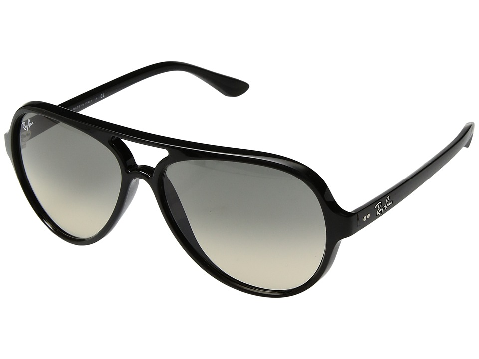 Ray-Ban Cats 5000 RB4125 59mm (Black/Crystal Grey Gradient) Fashion Sunglasses