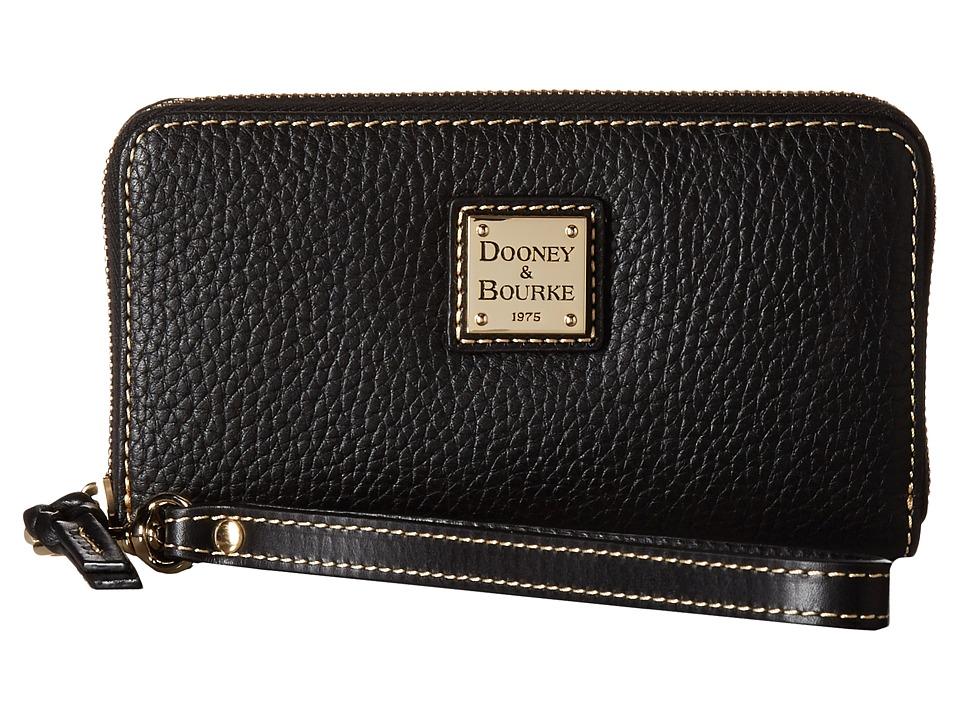 Dooney & Bourke - Pebble Tech Wristlet (Black/Black Trim) Wristlet Handbags