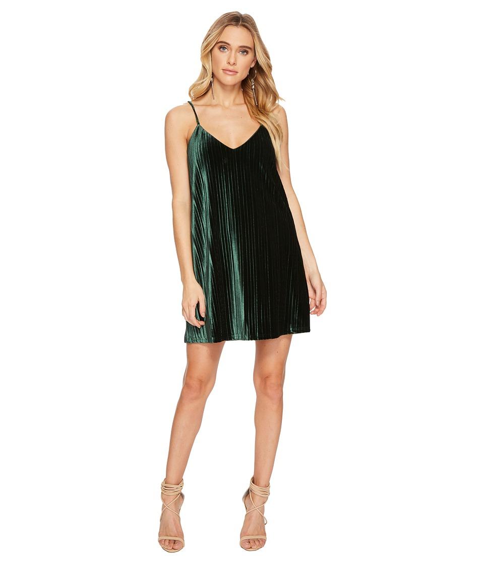 Jack by BB Dakota - Rickie Pleated Velvet Slip Dress (Mountain Green) Womens Dress