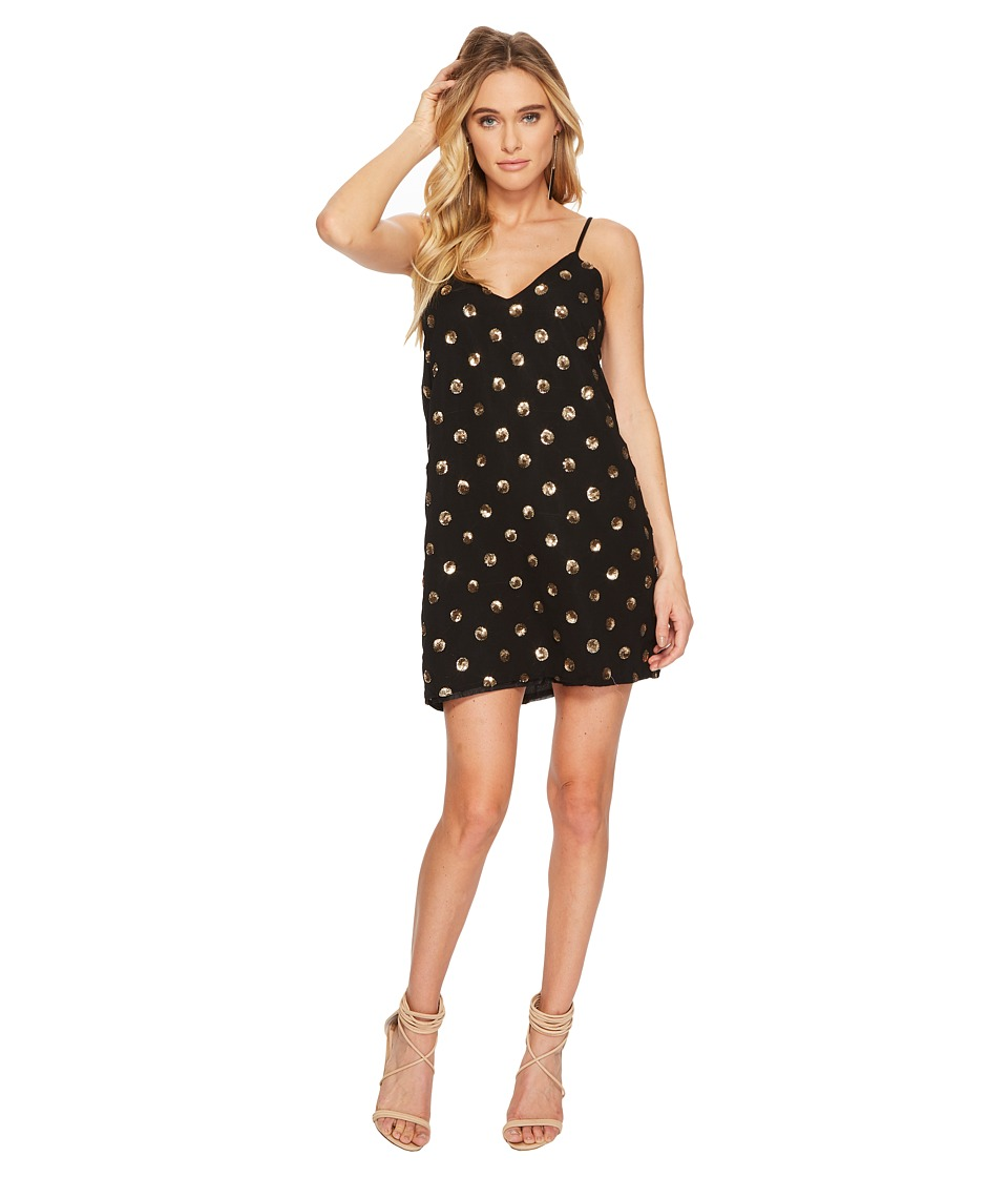 Jack by BB Dakota - Hollis Sequin Dot Slip Dress (Black) Womens Dress