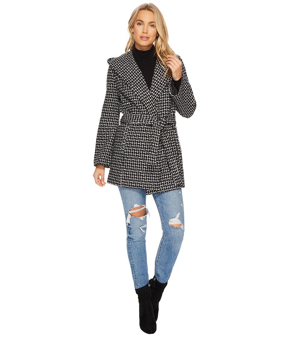Jack by BB Dakota - Ilora Basket Weave Hooded Jacket (Bla...