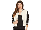 Jack by BB Dakota Karah Contrast Sherpa and Faux Suede Varsity Jacket