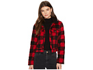 Jack by BB Dakota Cicily Buffalo Plaid Jacket with Sherpa Collar