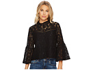 Jack by BB Dakota Miley Floral Lace Bell Sleeve Top
