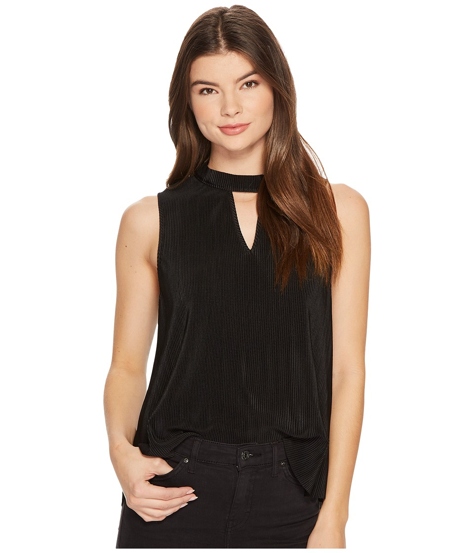 Jack by BB Dakota - Dana Pleated Sleeveless Top (Black) Womens Sleeveless
