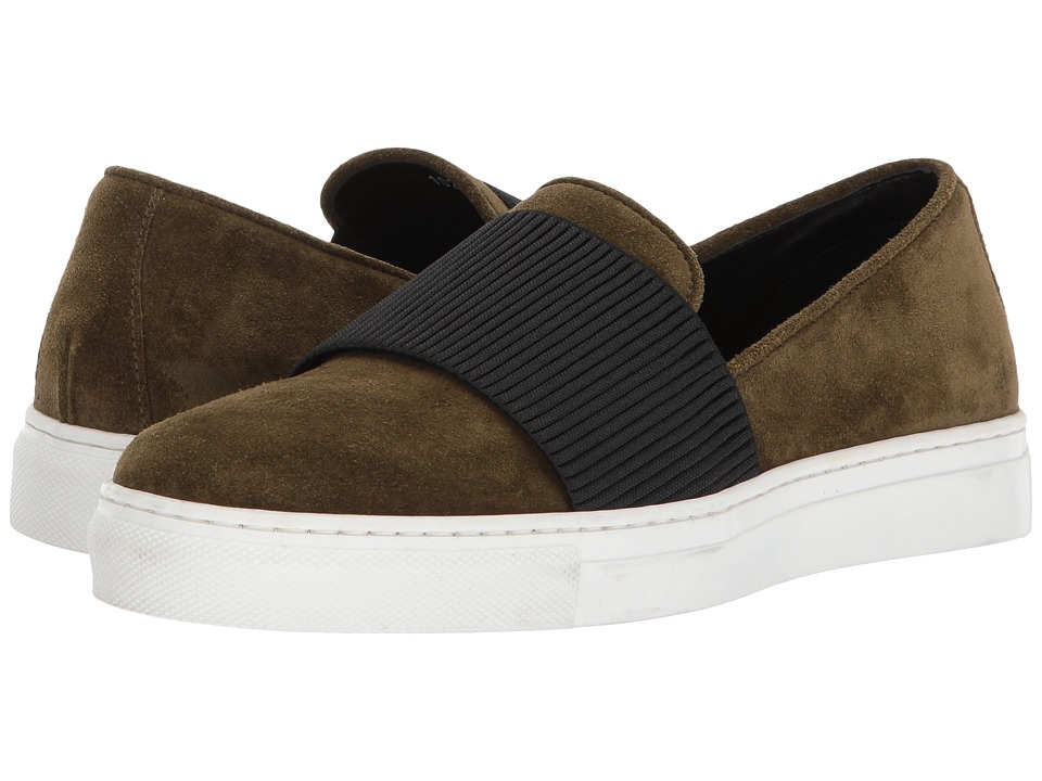 Cordani - Otto (Military Green Suede) Women's Slip on  Shoes