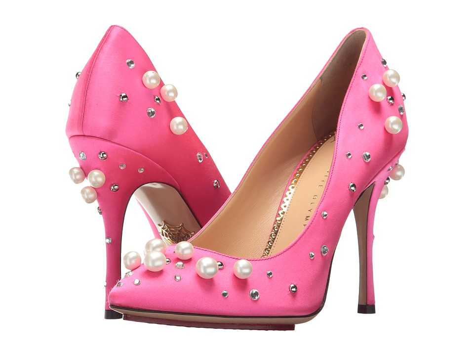 Charlotte Olympia Precious Bacall (Hot Pink Satin) High Heels