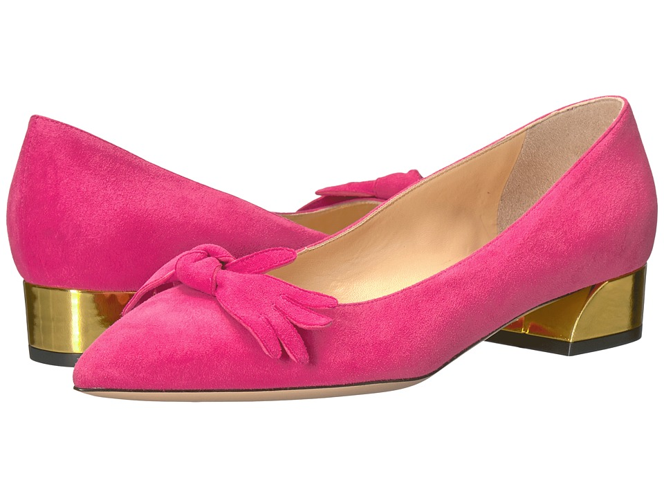 Charlotte Olympia Lady Like Flats (Hot Pink Suede) Women
