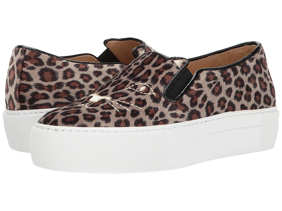 Charlotte Olympia - Cool Cats (Leopard Printed Velvet) Womens Slip on  Shoes