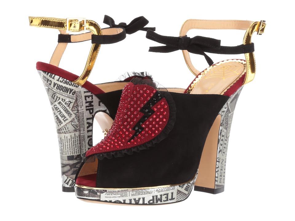 Charlotte Olympia Killer Heels (Multicolor Suede/Print Metallic Nappa) High Heels